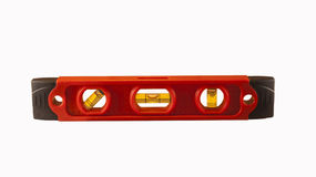 Small torpedo level isolated. Red torpedo level isolated with clipping path at this size Royalty Free Stock Images