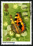 Small Tortoiseshell Butterfly UK Postage Stamp Royalty Free Stock Photography