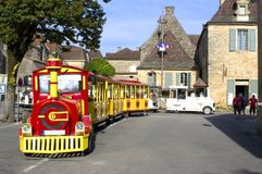 Small tourist train of Dome Stock Photography