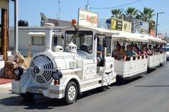 The small tourist train. Stock Photo
