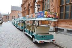 The small tourist train. Stock Image