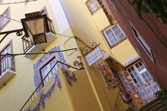 Small touristic street of Sintra Stock Images