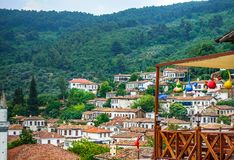 Small Touristic Town in Turkey Near Kusadasi named Sirince. It is so near to the Ephesus Antique City royalty free stock image