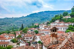 Small Touristic Town in Turkey Near Kusadasi named Sirince. It is so near to the Ephesus Antique City royalty free stock photos