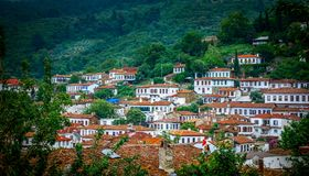 Small Touristic Town in Turkey Near Kusadasi named Sirince. It is so near to the Ephesus Antique City stock image