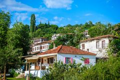 Small Touristic Town in Turkey Near Kusadasi named Sirince. It is so near to the Ephesus Antique City stock images