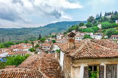 Small Touristic Town in Turkey Near Kusadasi named Sirince. It is so near to the Ephesus Antique City royalty free stock photography