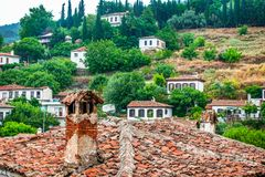 Small Touristic Town in Turkey Near Kusadasi named Sirince. It is so near to the Ephesus Antique City stock photo