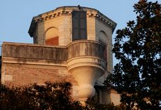 Small tower close to that of the Observatory or the devil in Padua in Veneto (Italy) Royalty Free Stock Photo