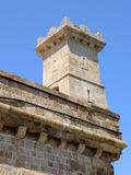 The small tower of Montjuic Castle, Barcelona Royalty Free Stock Photos