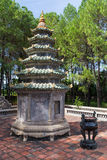 Small tower near Thien Mu Pagoda in Hue,  Vietnam Royalty Free Stock Images