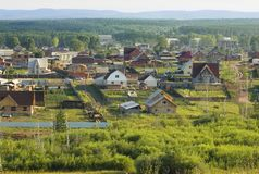 A small town Stock Image