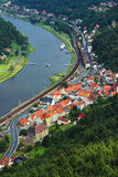Small town. View to small german town from the top of mountain Royalty Free Stock Photography