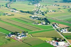 Small Town from Above Stock Image