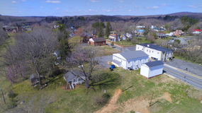 Small Town Aerial Photo Stock Images