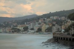 The small town Alassio Stock Photos