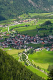 Small town in Alps Royalty Free Stock Photos
