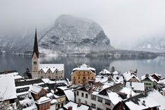 Small town in Alps Royalty Free Stock Image