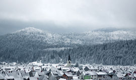 Small town in Alps Royalty Free Stock Images