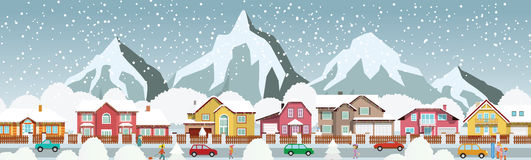 Small town in the Alps Royalty Free Stock Image