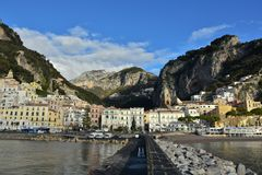 The small town of Amalfi in Italy stock photo