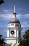 Small Town America. Bell and clock tower above a courthouse in a small town Royalty Free Stock Images