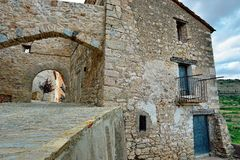 Small  town Ares in Spain. Royalty Free Stock Images