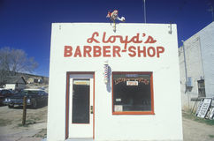 A small-town barbershop, Lyons, CO Royalty Free Stock Photo