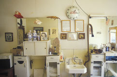 A small-town barbershop, Lyons, CO Royalty Free Stock Images