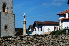 Small town in Basque Country, France Stock Photos