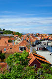 Small town on Bornholm island. Denmark, Europe royalty free stock image