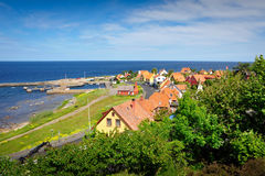 Small town on Bornholm island Stock Photos