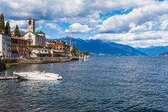 Small town Brissago in Ticino, Italy Stock Photo