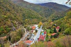 Autumn town Bulgaria stock photo