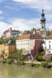 The small town of Burghausen, Germany Stock Photos