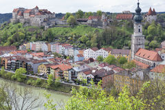 The small town of Burghausen, Germany Royalty Free Stock Photo