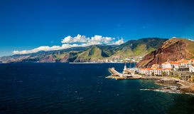 Small town Canical on the eastern coast of Madeira Stock Photos
