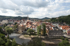 The small town of ceky krumlov czech republic europe Royalty Free Stock Photos