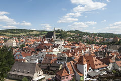 The small town of ceky krumlov czech republic europe Royalty Free Stock Image