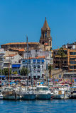 Small town in Costa Brava (Palamos) Royalty Free Stock Photo