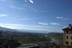 View on Piave River from Belluno Royalty Free Stock Photography