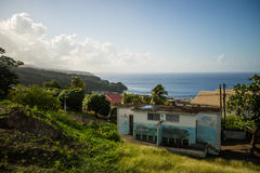 Small town on Dominica, carribean sea Stock Image