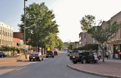 Small town downtown stock images