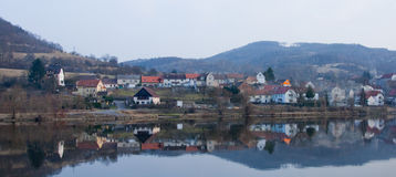 Small town on Elbe Stock Photography