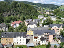 Small town in the Erzgebirge Stock Images