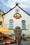 Small Town,Feldkirch,Austria. Sunday market in the centre of the Feldkirch.Austria Stock Photo