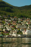Small Town at Fjord Stock Image