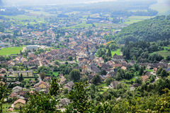 Small town in the French Alps Royalty Free Stock Photos