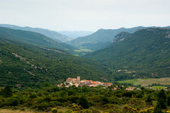Small town In the French Pyrenees Stock Photo