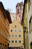 Small town Fussen in Bavaria, Germany Royalty Free Stock Photos